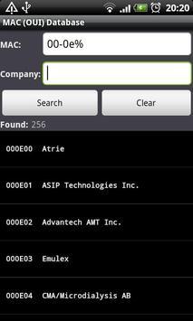 MAC (OUI) Database apk screenshot