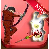 Shoot cretin rabbit with arc icon