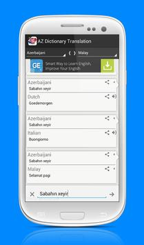 AZ Dictionary Translation apk screenshot