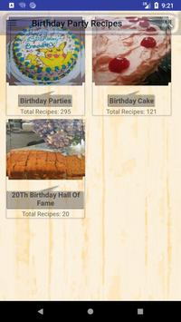 Birthday Party Recipes poster