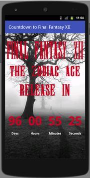 Countdown to Final Fantasy XII apk screenshot