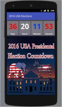 2016 USA Election Countdown poster