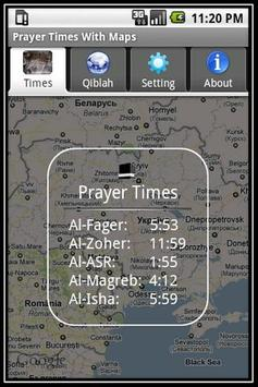 Prayer Times With Google Maps poster