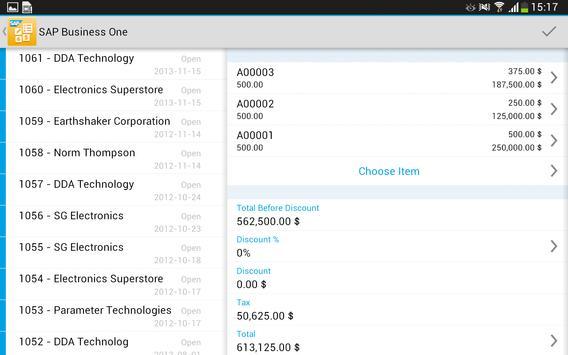 SAP Business One screenshot 13