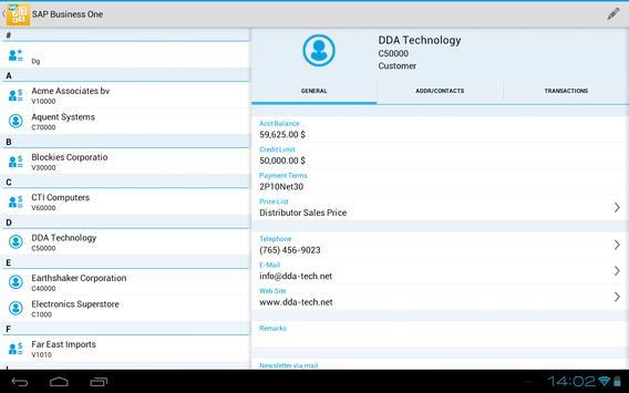 SAP Business One screenshot 8