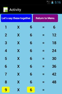 Multiplication Level 1 Free screenshot 5