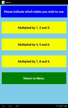 Multiplication Level 1 Free apk screenshot