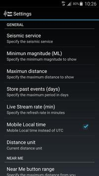 QuakeAware Earthquakes Near Me apk screenshot