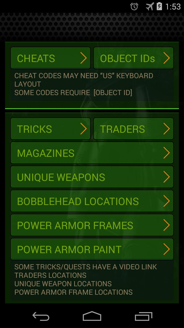 Cheats Fallout 4 for Android - APK Download