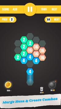 Hexa Merge: Launch & Merge Hexa screenshot 1