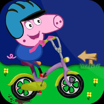papa pig bike apk screenshot
