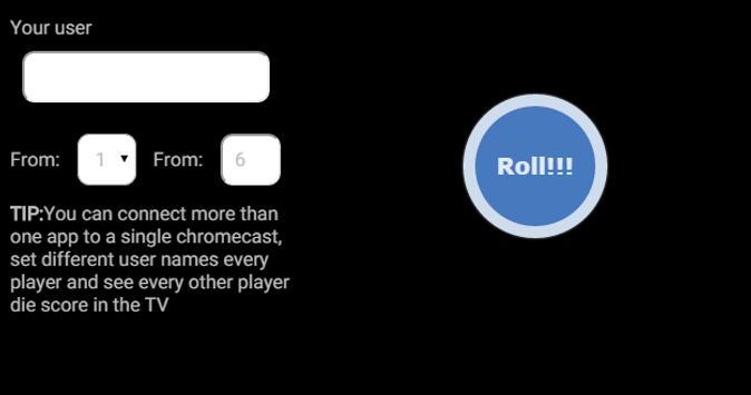 Die Roller for Chromecast apk screenshot