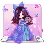 Purple Butterfly Girl Theme icon