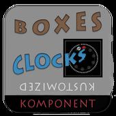 Box - 12 clock komponents KLWP icon