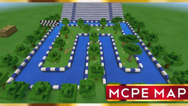 Boat Race Map for Minecraft PE apk screenshot