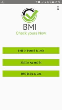 Body Mass Index - BMI poster