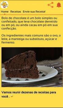 Receitas de Bolo de Chocolate poster