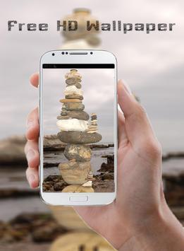 white stone HD Wallpaper poster
