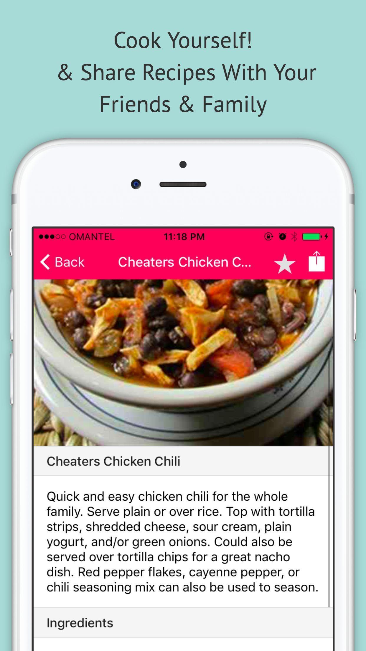 Chili Recipe — Offline Recipe for Chili 1