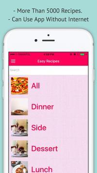 Easy Recipes - Offline Simple Easy Recipes poster