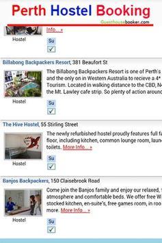 Perth Hostel Booking 2 apk screenshot