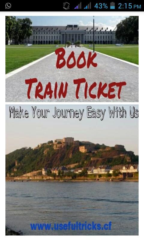 how to book a train ticket through internet