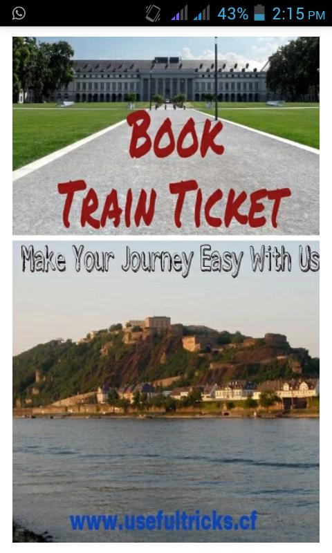 how to book a train ticket through internet