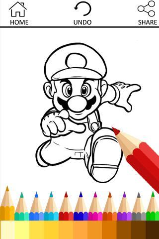Coloring Book for Mario Fans für Android - APK herunterladen