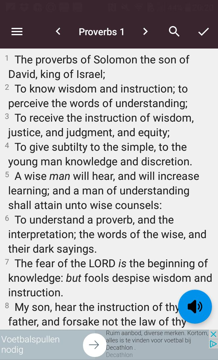 Audio Bible - Book Of Proverbs With KJV Text for Android - APK Download