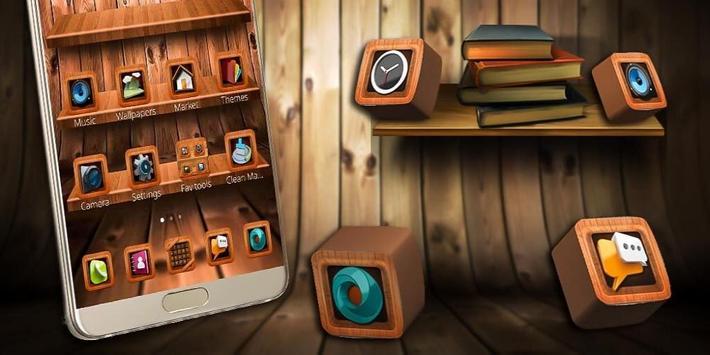 Wooden Touch Launcher screenshot 3
