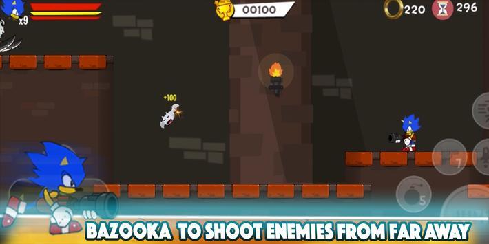 💨  Classic Smash of Sonic Jungle & Super Shadow screenshot 1