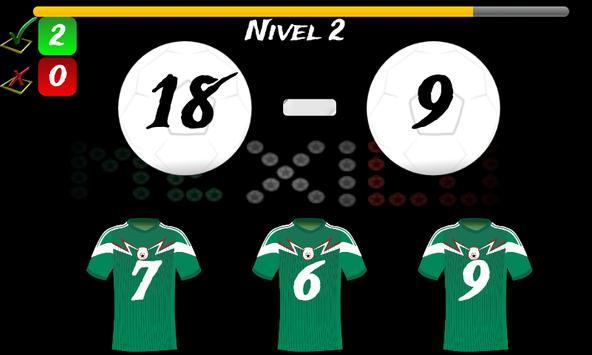 Math Game Mexico 2014 Lite screenshot 1