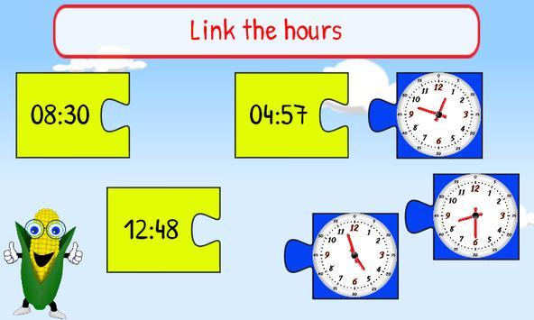 Telling Time Kids 1st Grade apk screenshot