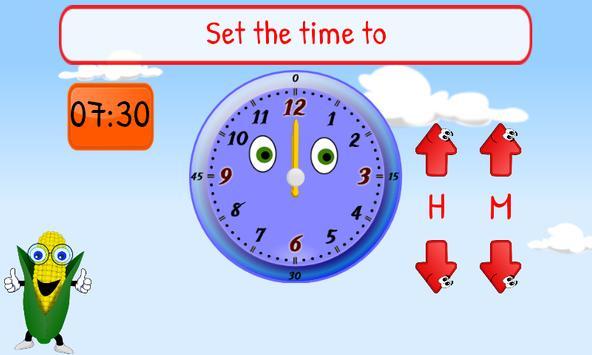 Telling Time Kids 1st Grade screenshot 2