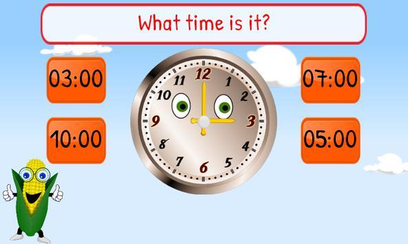 Telling Time Kids 1st Grade screenshot 7