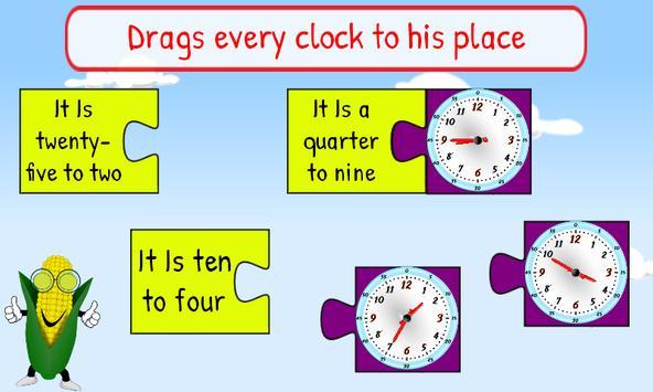 Telling Time Kids 1st Grade screenshot 6