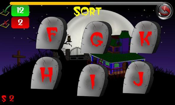 Halloween Zombie ABC Game Kids apk screenshot