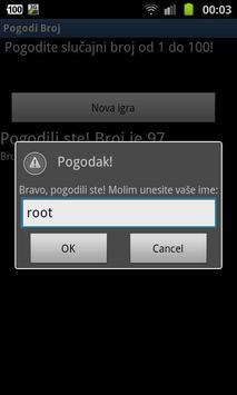 Pogodi broj apk screenshot