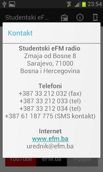 Studentski eFM radio screenshot 3
