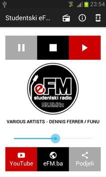 Studentski eFM radio poster