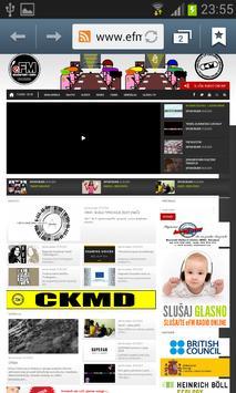 Studentski eFM radio screenshot 1