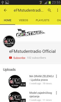 Studentski eFM radio screenshot 2