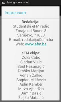 Studentski eFM radio screenshot 4