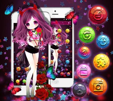 Little Demon Girl Theme apk screenshot
