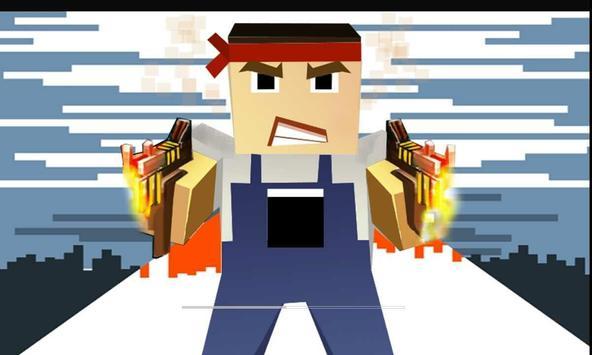 Battle Pixel Shooting Gun 3D ROYAL poster
