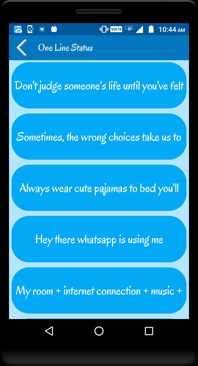 English One Line Status For Android Apk Download