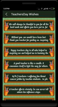 Teachers day wishes in English poster