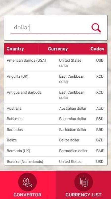 Bay Currency Converter Screenshot 2