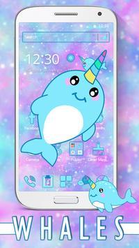 Baby Unicorn Whales Theme screenshot 1