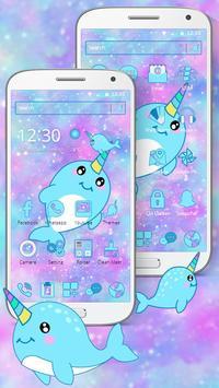 Baby Unicorn Whales Theme screenshot 2
